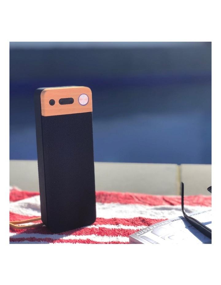 LuxeTech Portable Bluetooth Speaker - Beech image 2
