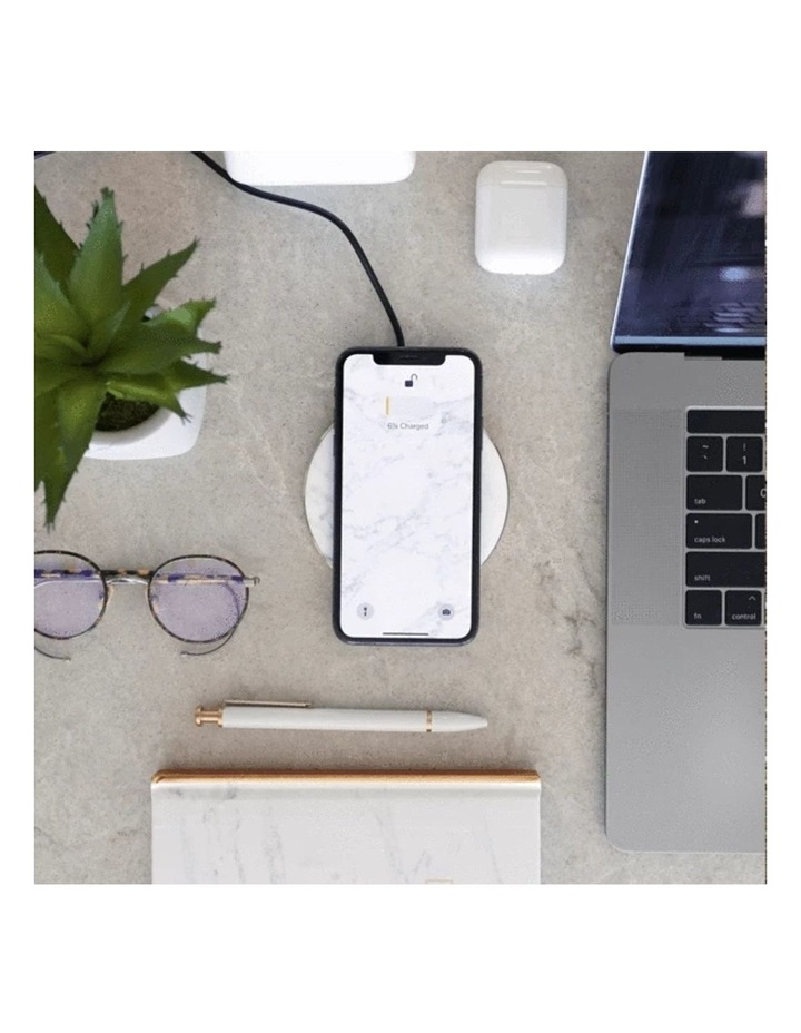 LuxeTech Wireless Pad - White Marble image 5