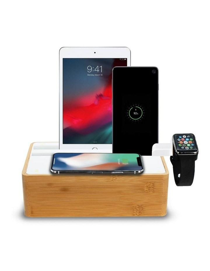 Wireless Bamboo & White Apple Watch Package image 1