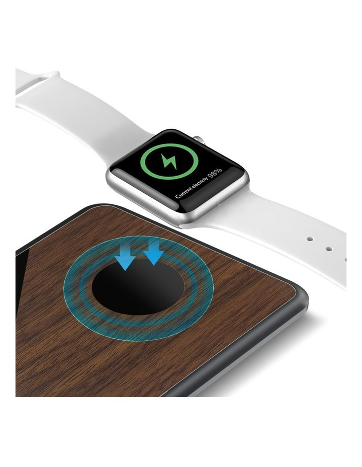 LuxeTech Dual Wireless Pad - Walnut / Black Marble image 2