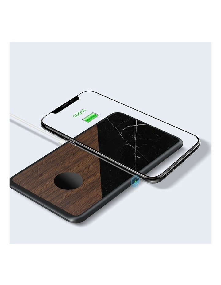 LuxeTech Dual Wireless Pad - Walnut / Black Marble image 7