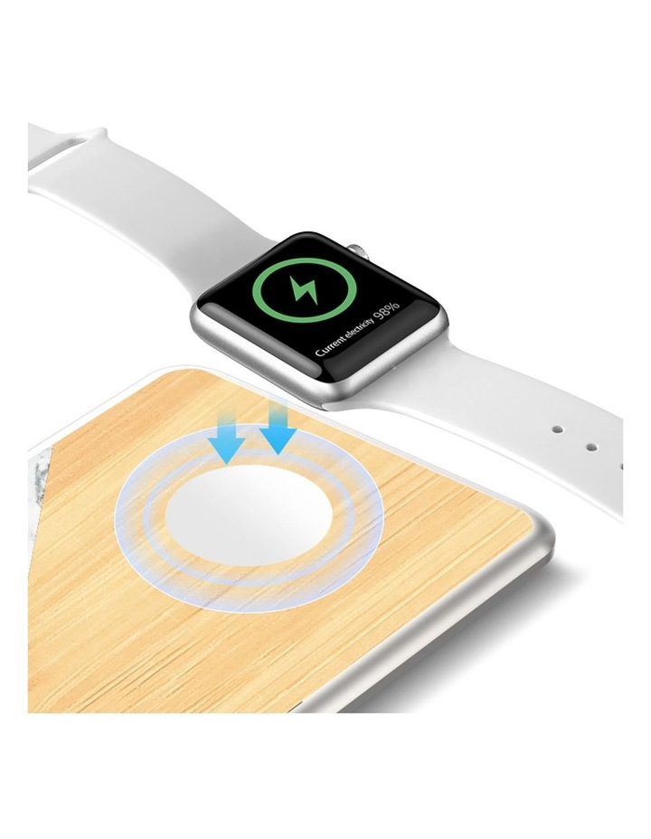 LuxeTech Dual Wireless Pad - Bamboo / White Marble image 3