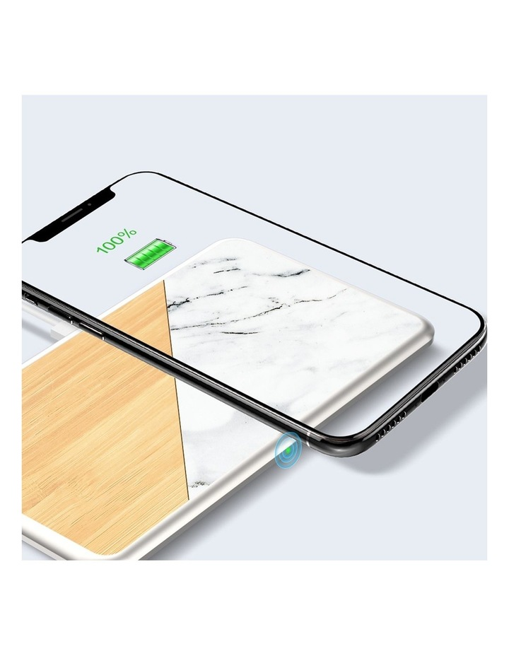 LuxeTech Dual Wireless Pad - Bamboo / White Marble image 5