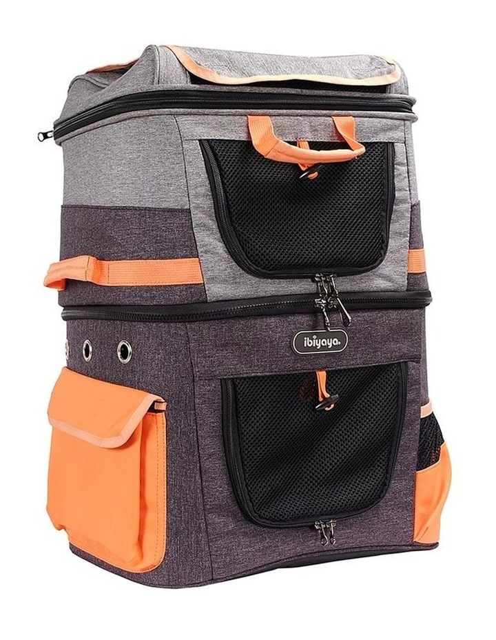 TWO-TIER HANDSFREE PET BACKPACK CARRIER image 1