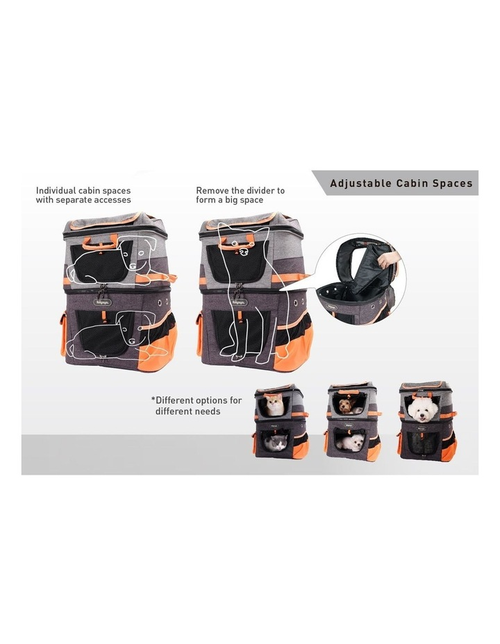 TWO-TIER HANDSFREE PET BACKPACK CARRIER image 4