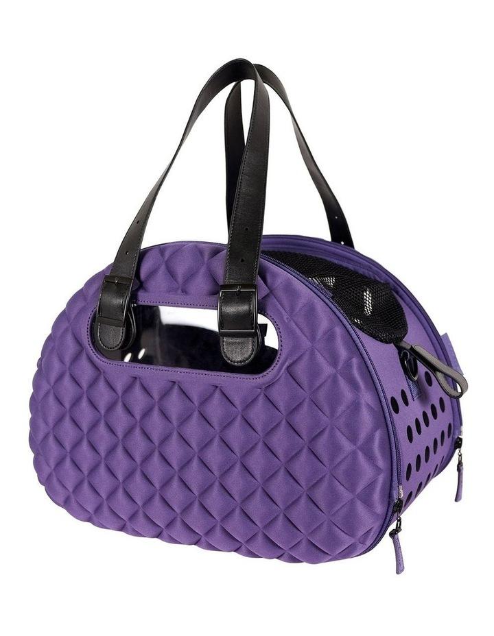 Diamond Deluxe Purple Pet Carrier image 1