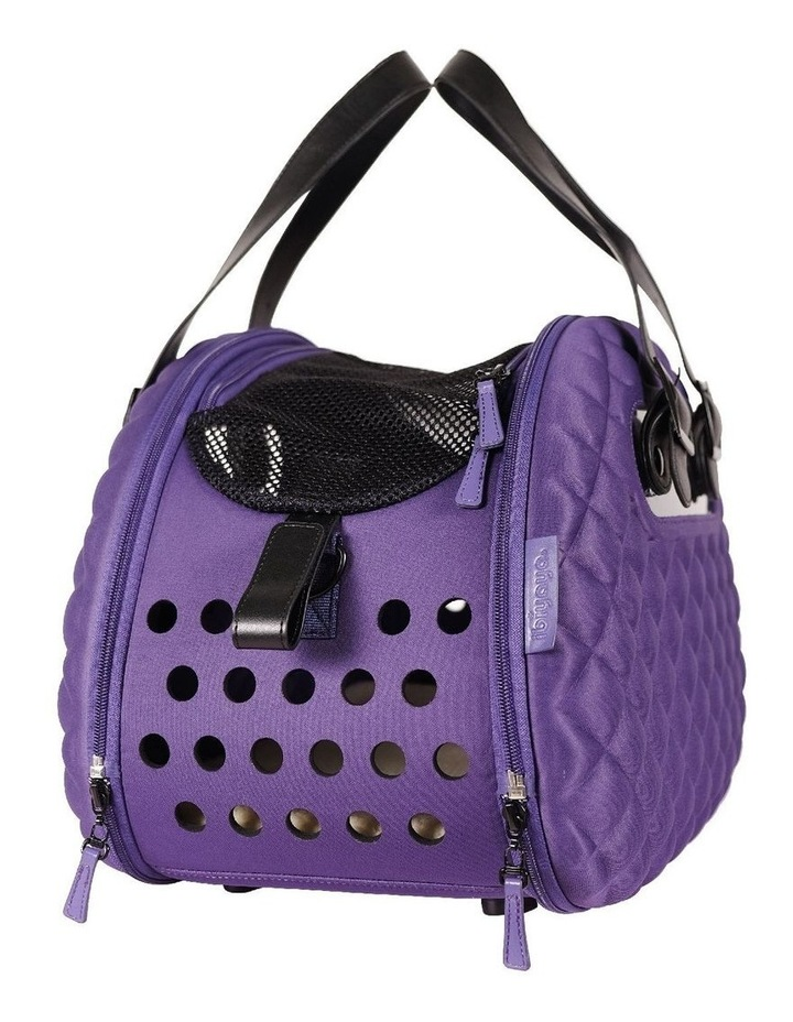 Diamond Deluxe Purple Pet Carrier image 2