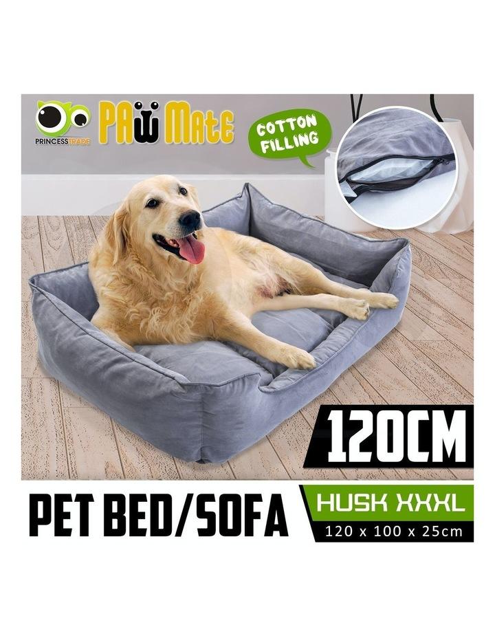 XXXL Pet Suede Sofa HUSK - GREY image 2