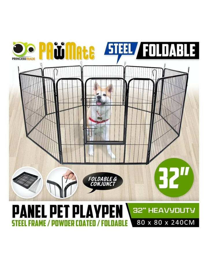 "32"" Heavy Duty 8 Panel Foldable Pet Playpen image 2"