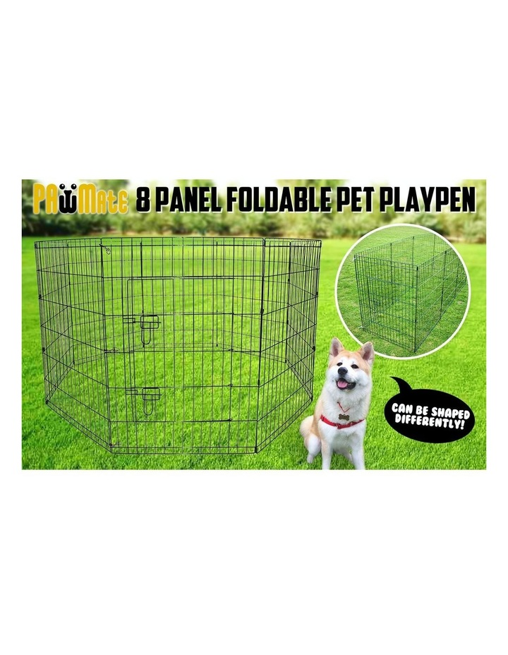 "31"" Heavy Duty 8 Panel Foldable Pet Playpen image 2"