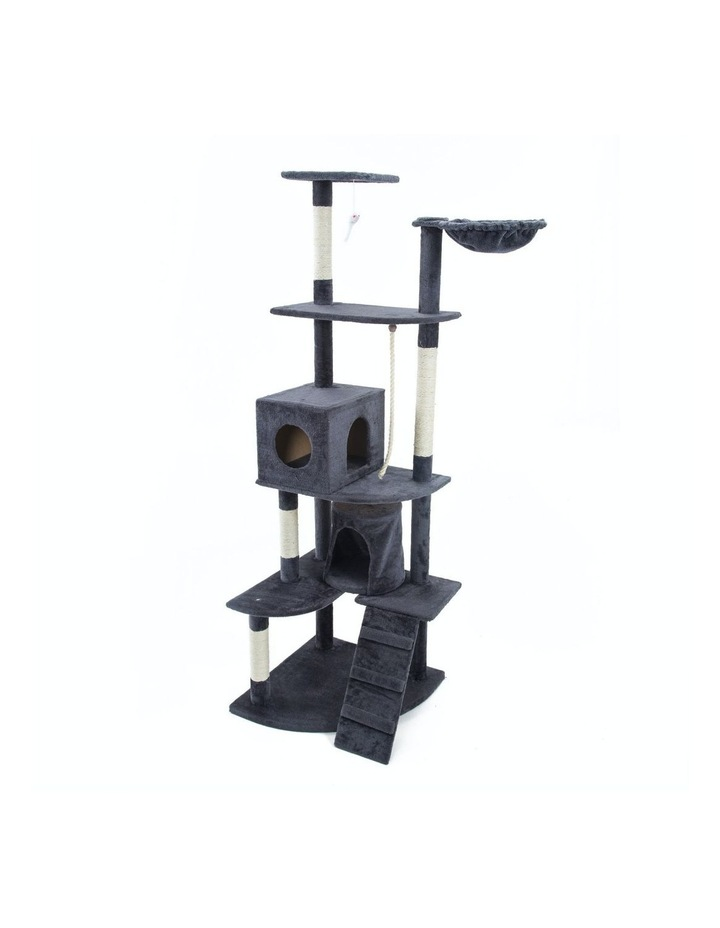 190cm Cat Tree Scratcher Acacia - Grey image 1