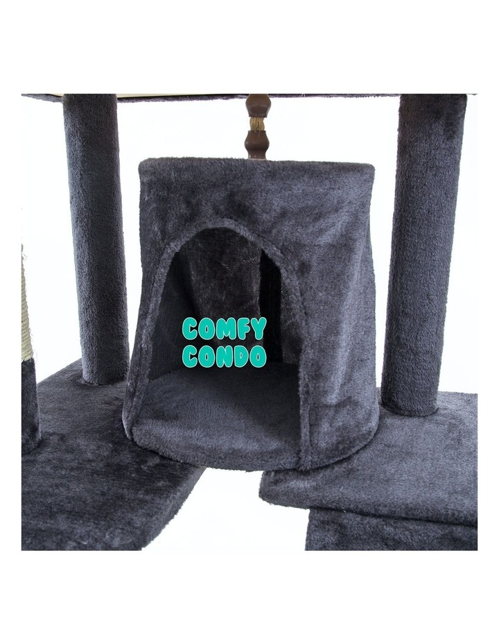 190cm Cat Tree Scratcher Acacia - Grey image 6