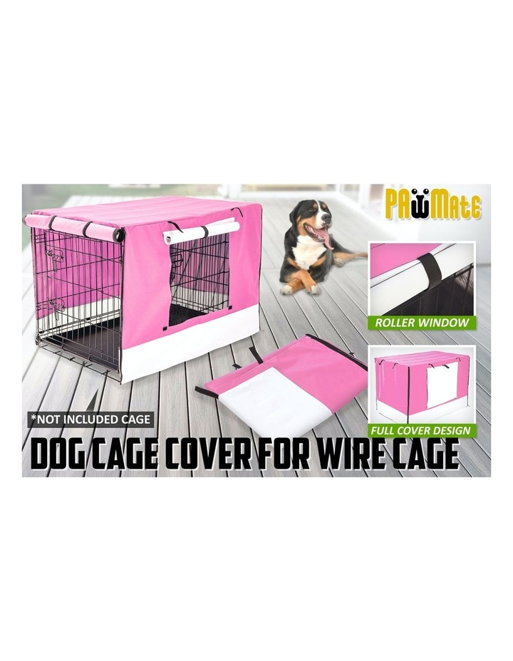 """36"""" Cover for Wire Dog Cage - PINK image 2"""