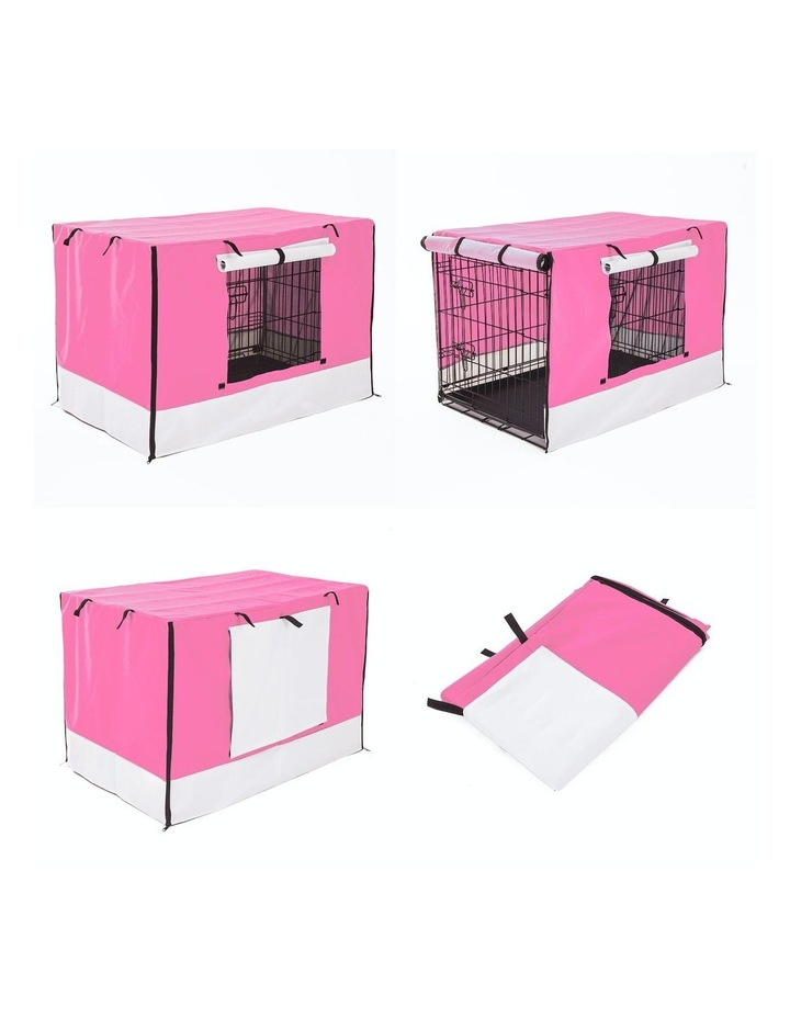 """36"""" Cover for Wire Dog Cage - PINK image 3"""