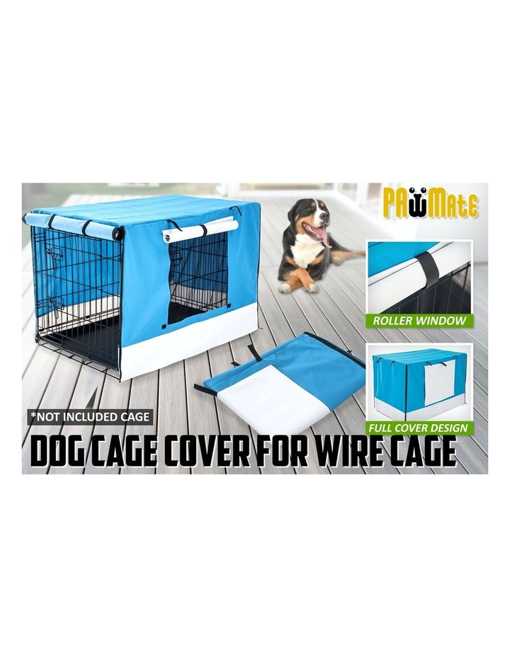 """36"""" Cover for Wire Dog Cage - BLUE image 2"""