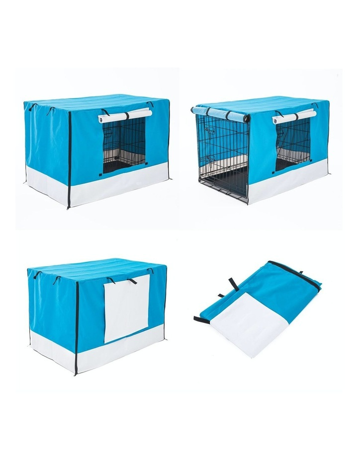 "24"" Cover for Wire Dog Cage - BLUE image 1"