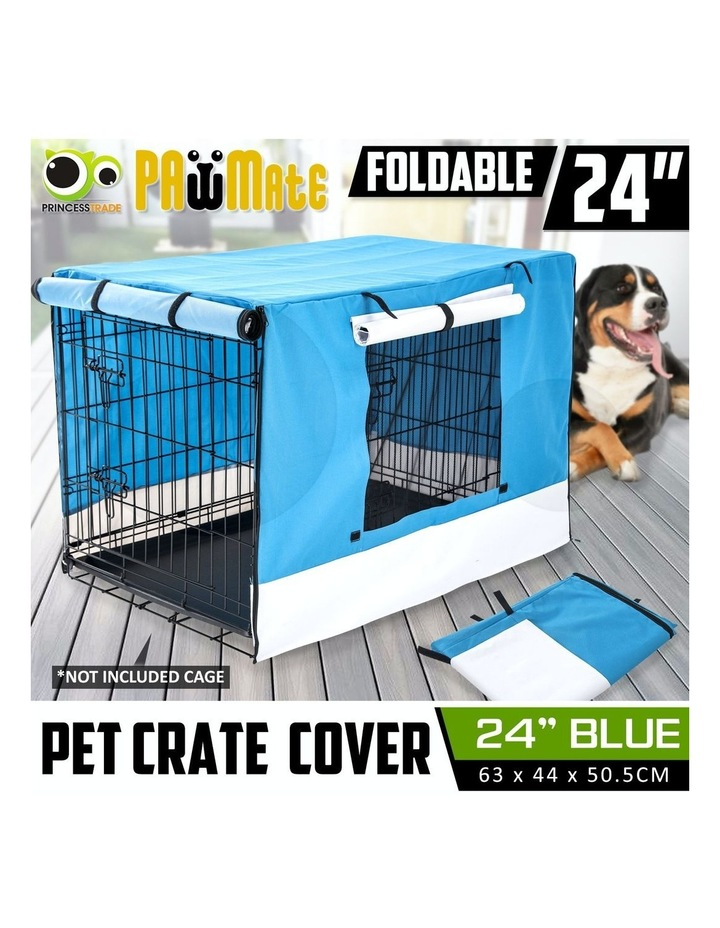 "24"" Cover for Wire Dog Cage - BLUE image 4"