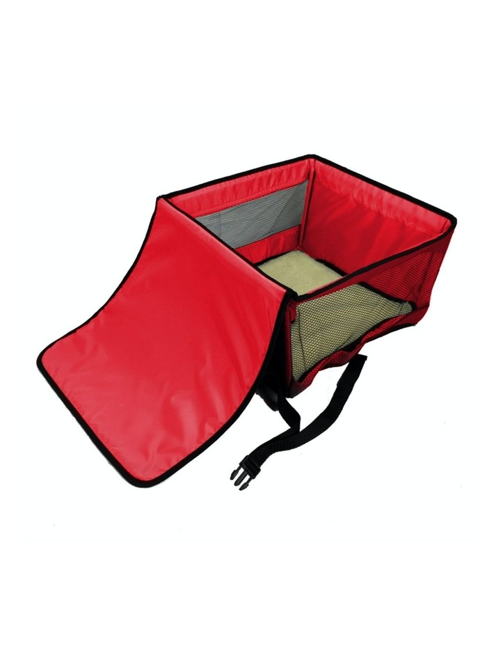 Large Portable Pet Booster Soft Crate - RED image 1