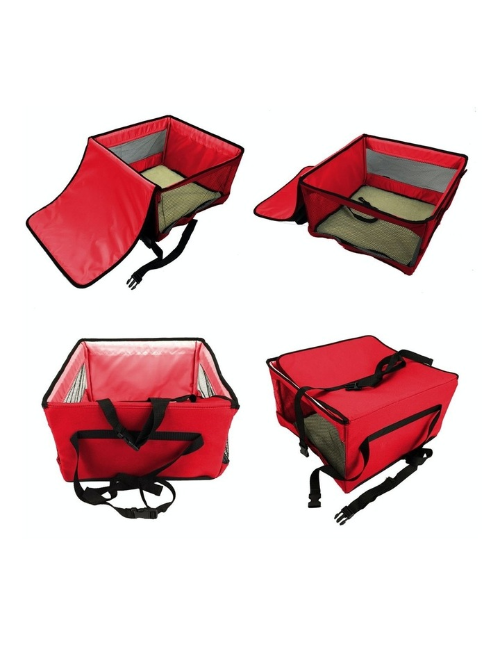 Large Portable Pet Booster Soft Crate - RED image 3
