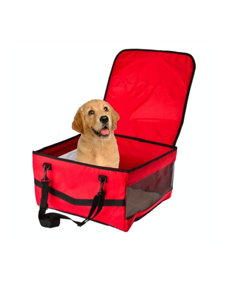 Large Portable Pet Booster Soft Crate - RED image 4