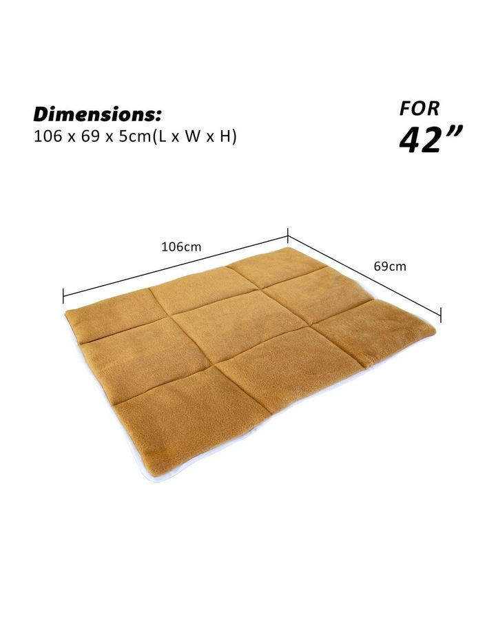 "42"" Cushion Mat For Wire Dog Cage - Beige image 5"