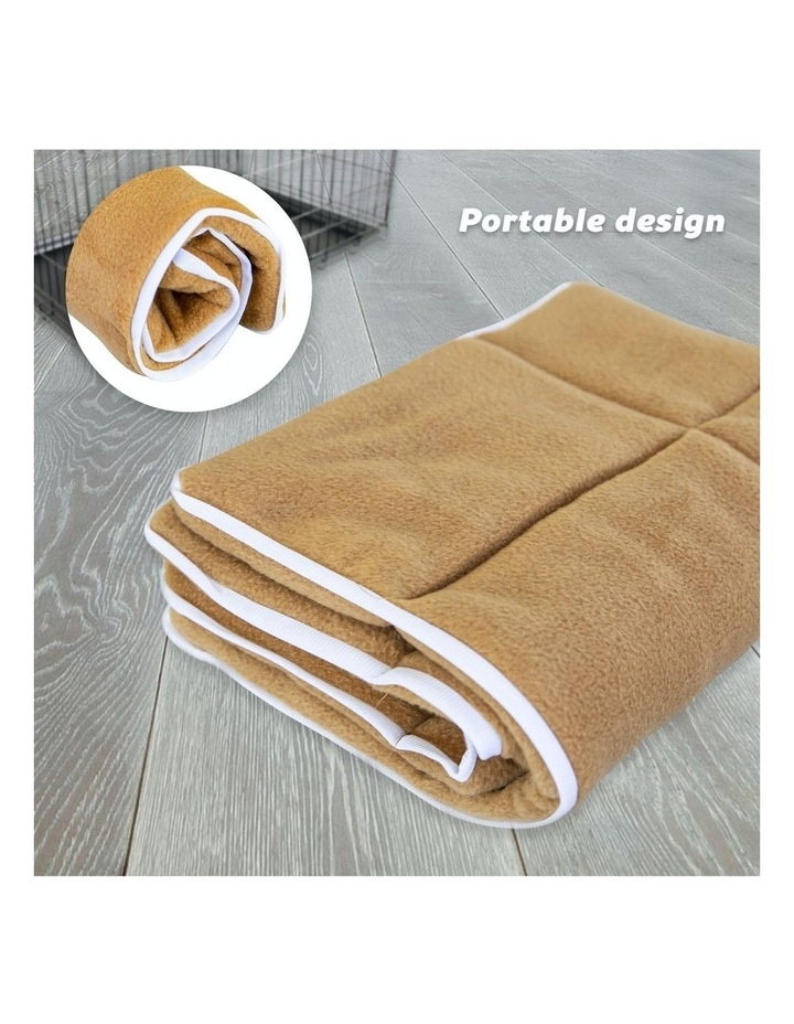 """24"""" Cushion Mat For Wire Dog Cage - Beige image 3"""