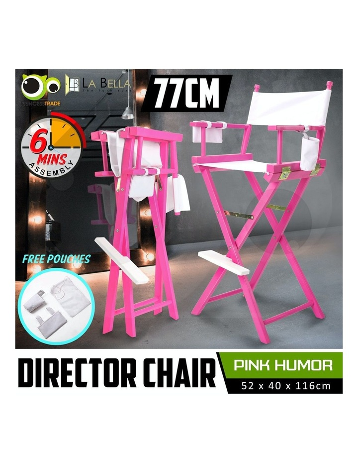 77cm Tall Director Chair - PINK HUMOR image 2