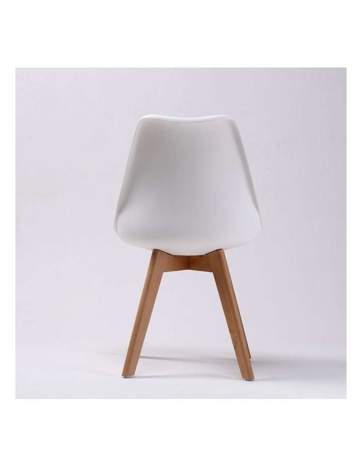 2X Padded Seat Dining Chair - White image 2