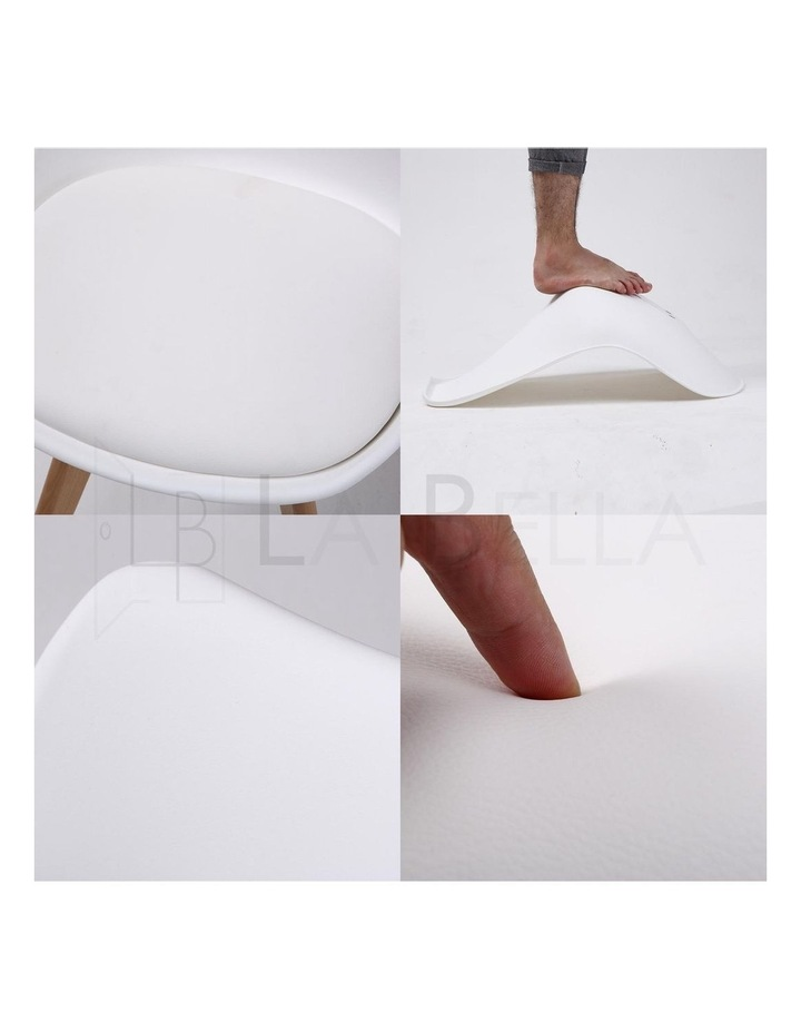 2X Padded Seat Dining Chair - White image 7