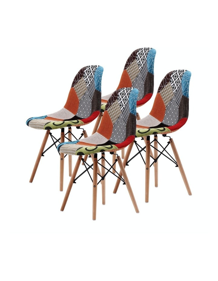 DSW Dining Chair Fabric x4 image 1