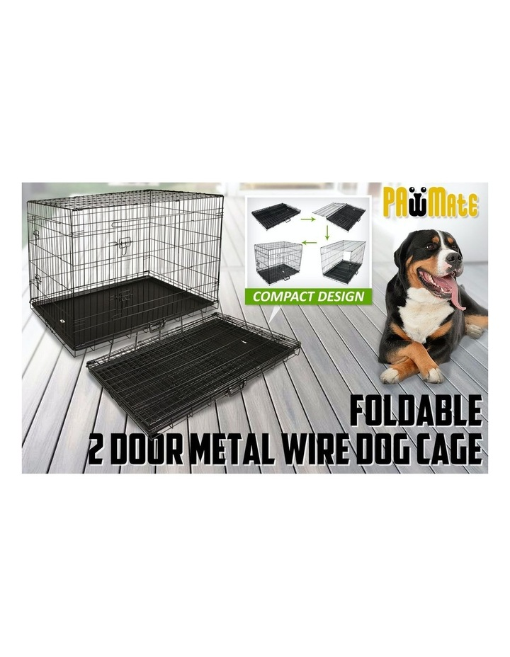 """42"""" Foldable Wire Dog Cage with Tray image 4"""