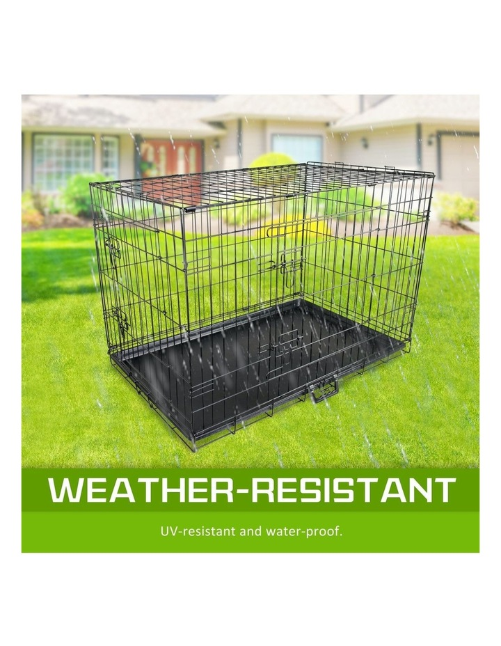 """42"""" Foldable Wire Dog Cage with Tray image 5"""