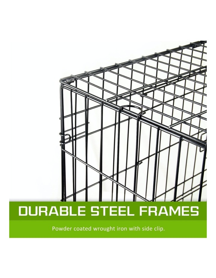 """42"""" Foldable Wire Dog Cage with Tray image 6"""