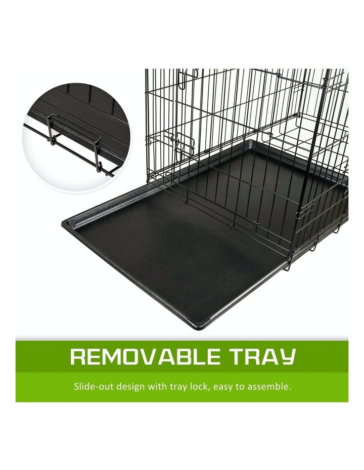 """42"""" Foldable Wire Dog Cage with Tray image 7"""