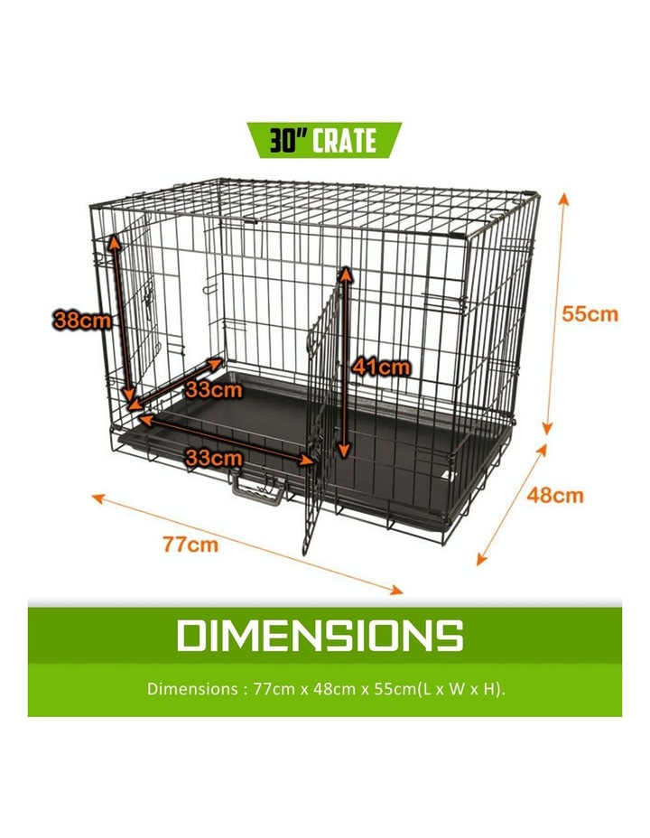 "30"" Foldable Wire Dog Cage with Tray image 2"