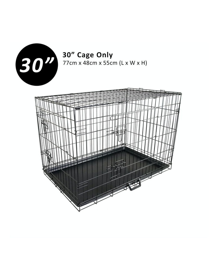 "30"" Foldable Wire Dog Cage with Tray image 3"