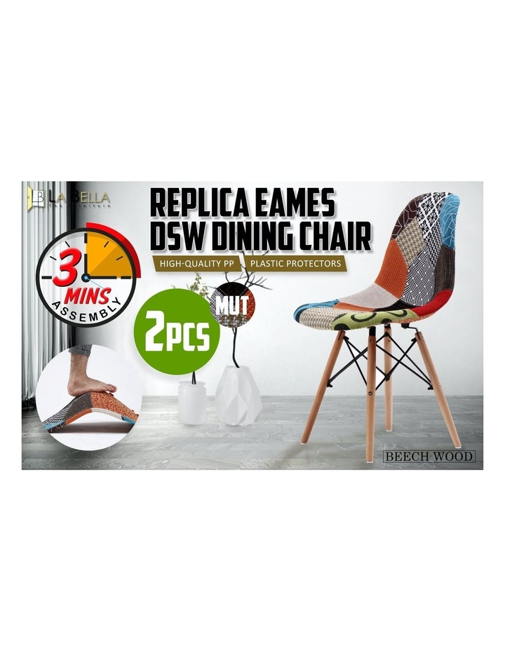 DSW Dining Chair Fabric - MULTI x2 image 3
