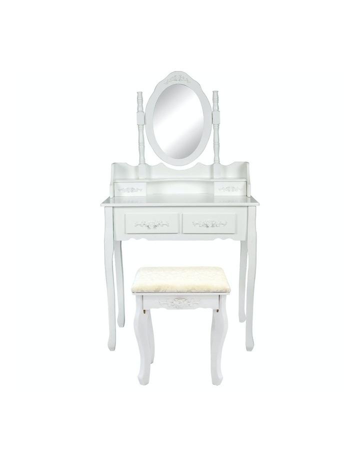 1 Mirror 4 Drawers Dressing Table - Angella White image 1