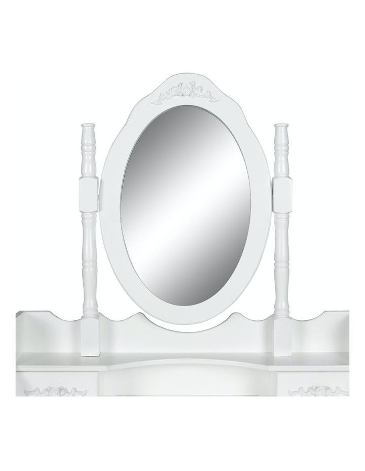 1 Mirror 4 Drawers Dressing Table - Angella White image 3