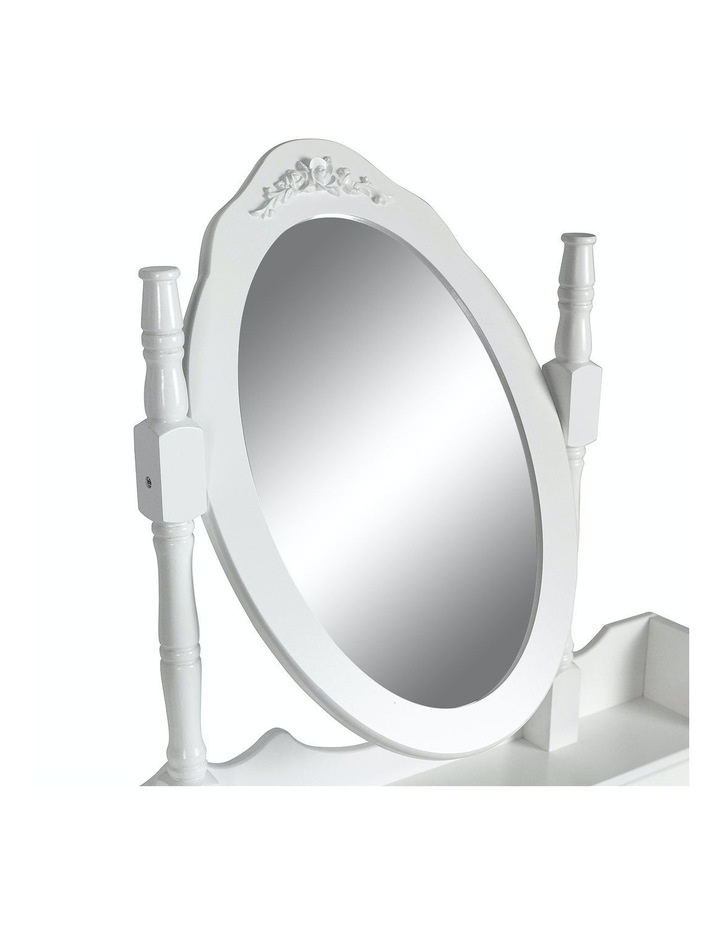 1 Mirror 4 Drawers Dressing Table - Angella White image 4