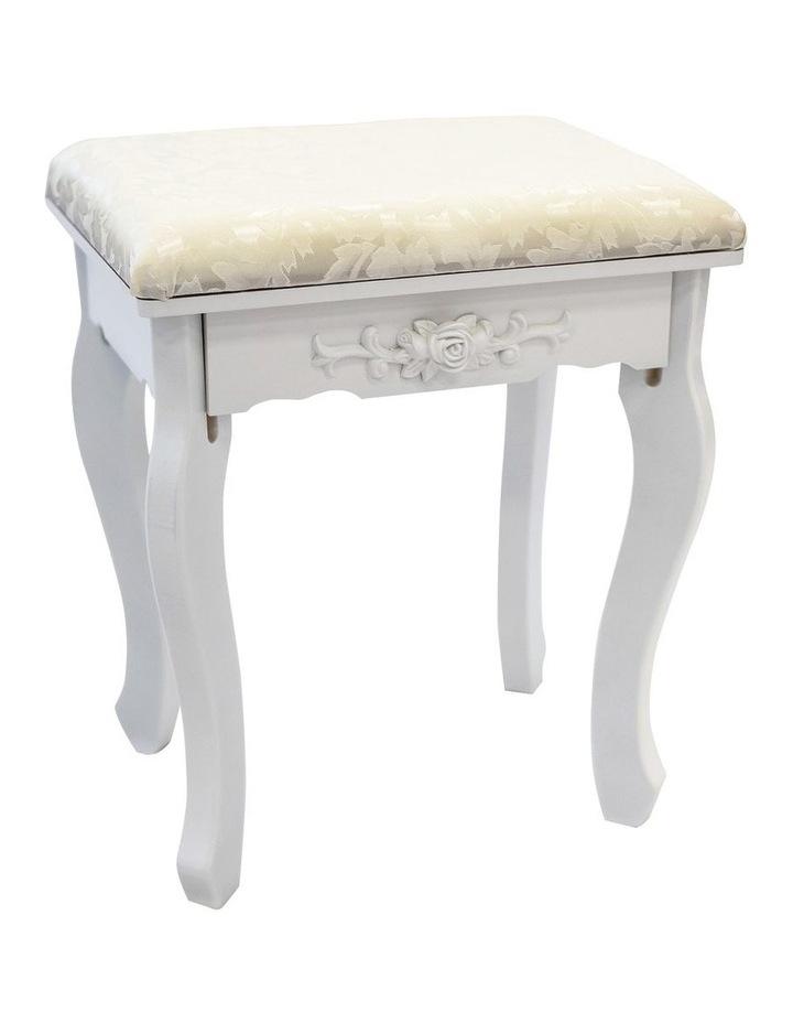 1 Mirror 4 Drawers Dressing Table - Angella White image 5