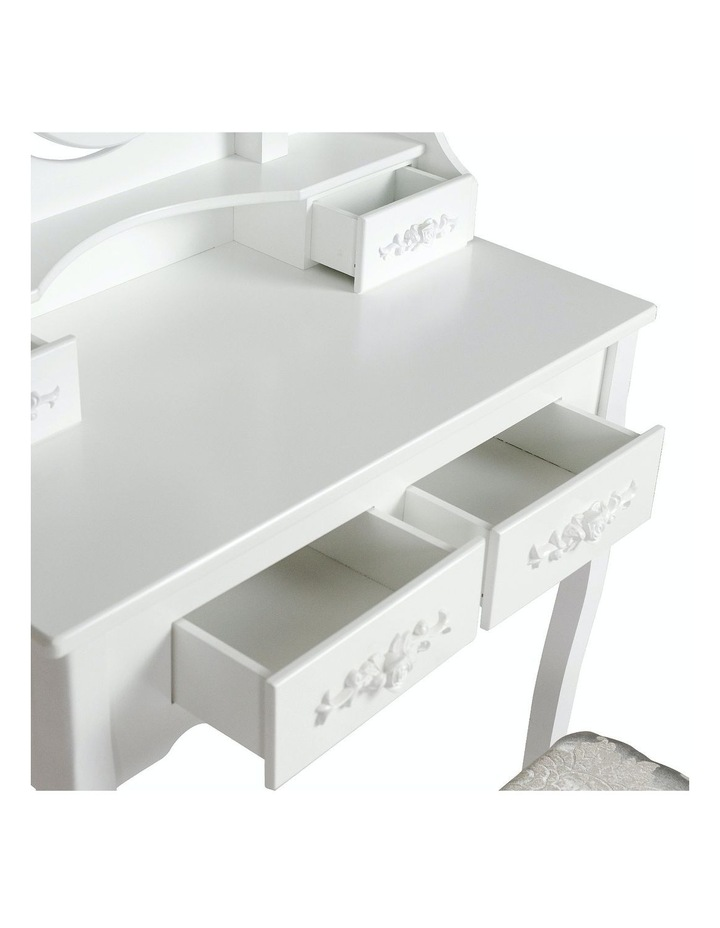 1 Mirror 4 Drawers Dressing Table - Angella White image 6