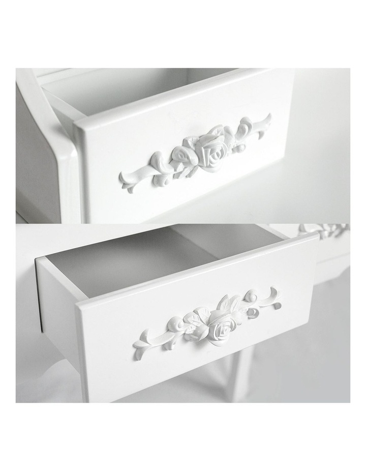 1 Mirror 4 Drawers Dressing Table - Angella White image 7