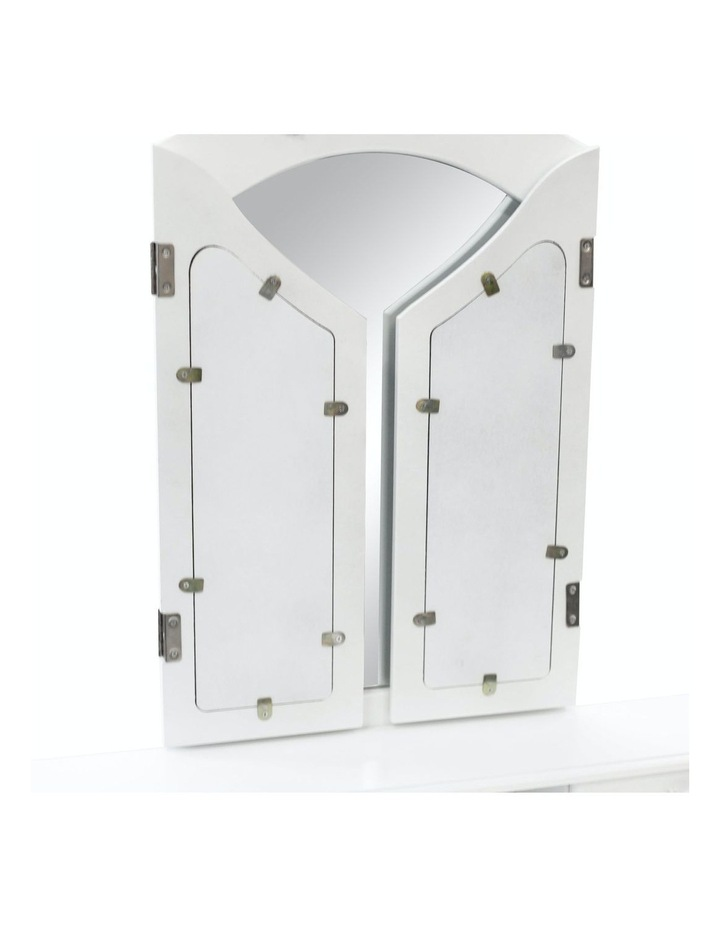3 Mirrors 4 Drawers Dressing Table - Diana - White image 6