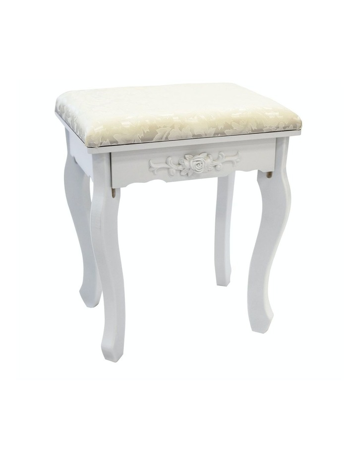 3 Mirrors 4 Drawers Dressing Table - Diana - White image 7