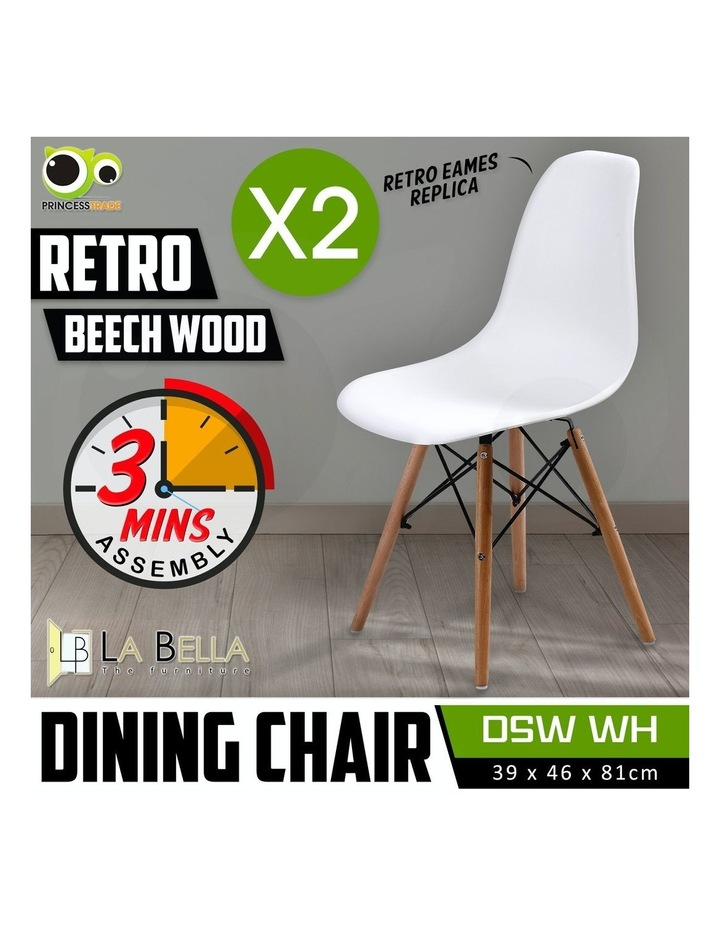 Dsw Dining Chair - White X2 image 2