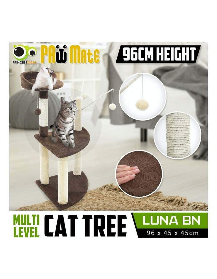 96cm Cat Tree Scratcher Luna - Brown image 2