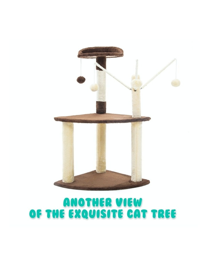 96cm Cat Tree Scratcher Luna - Brown image 6