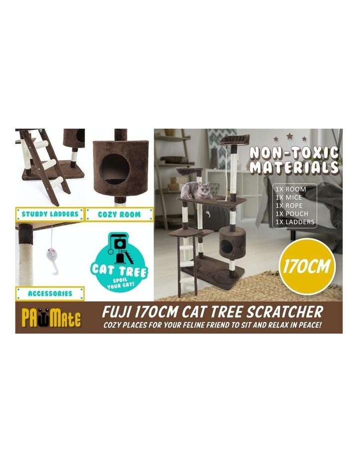 158cm Cat Tree Scratcher Fuji - Brown image 3
