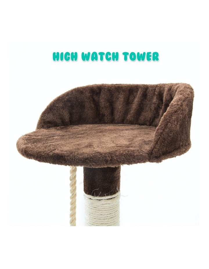 158cm Cat Tree Scratcher Fuji - Brown image 7